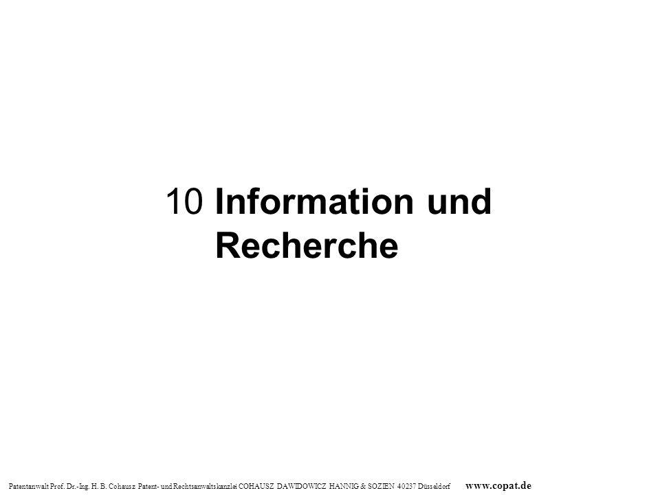 10 Information und Recherche