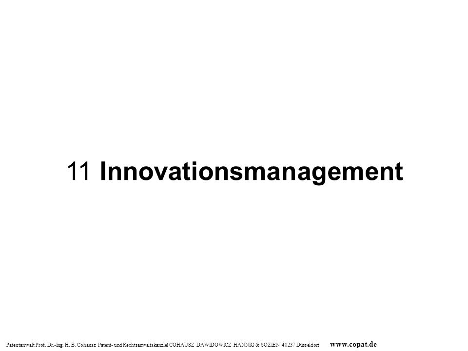 11 Innovationsmanagement