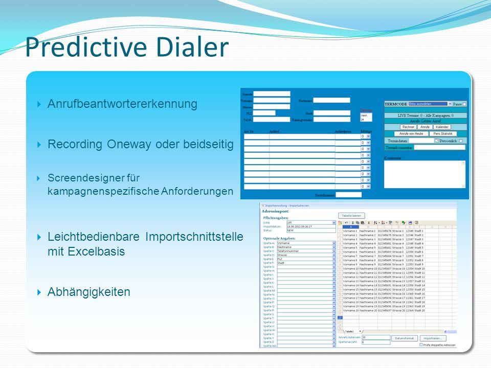 Predictive Dialer Anrufbeantwortererkennung