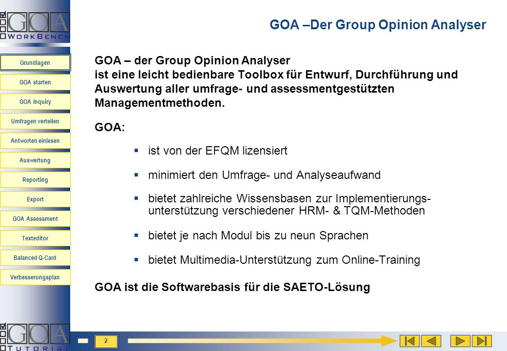 GOA –Der Group Opinion Analyser