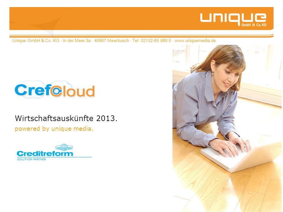 Wirtschaftsauskünfte 2013. powered by unique media.