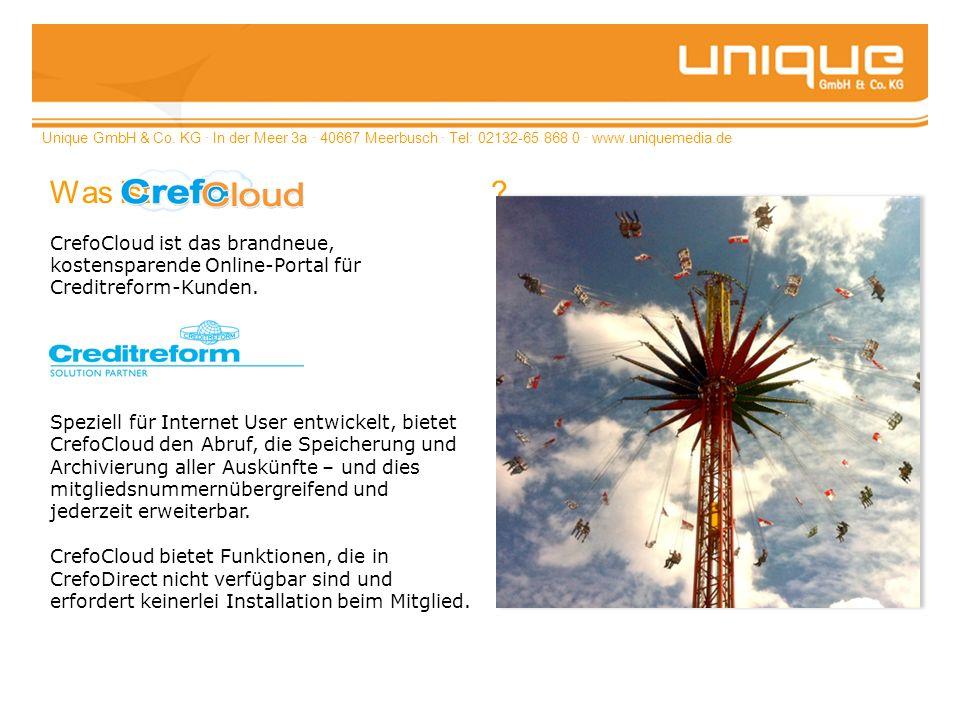Unique GmbH & Co. KG · In der Meer 3a · 40667 Meerbusch · Tel: 02132-65 868 0 · www.uniquemedia.de