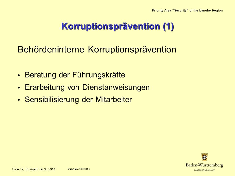 Korruptionsprävention (1)