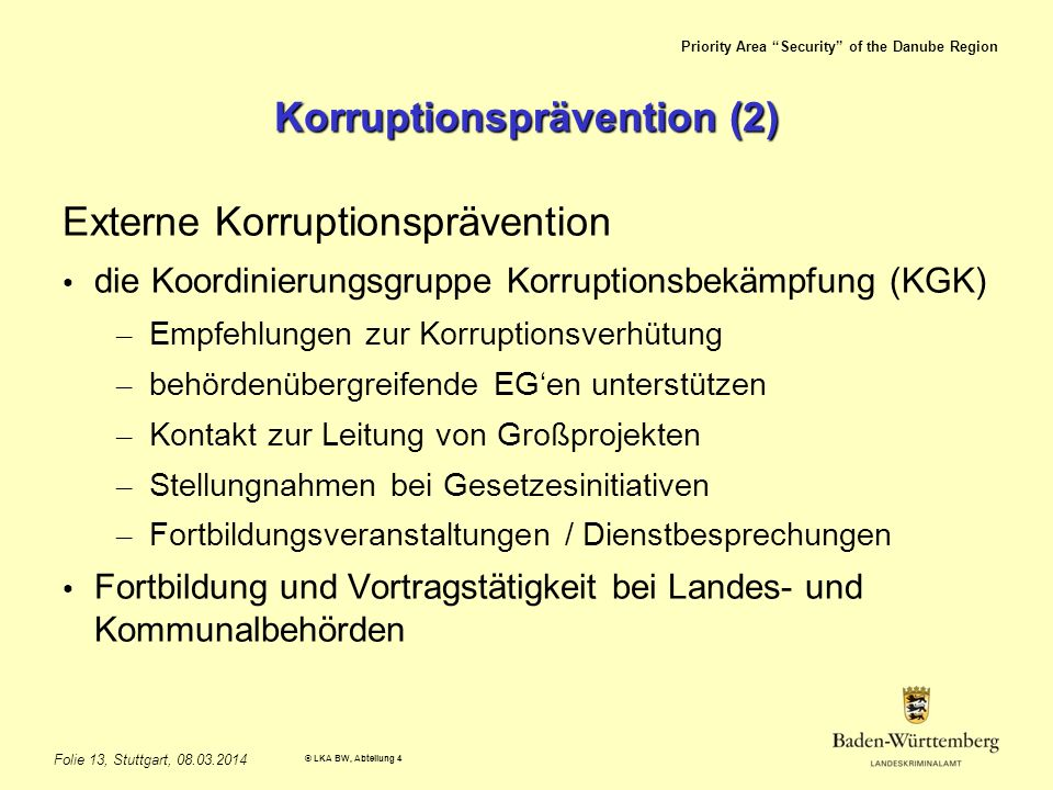 Korruptionsprävention (2)