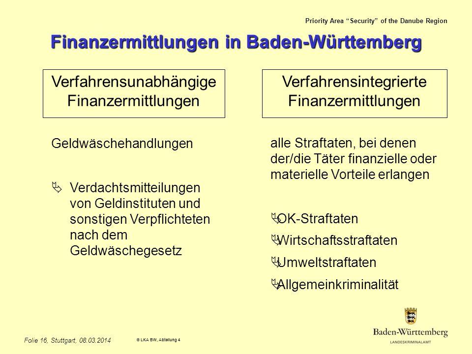 Finanzermittlungen in Baden-Württemberg
