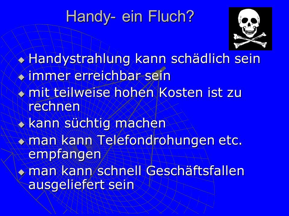 Handy- ein Fluch Handystrahlung kann schädlich sein