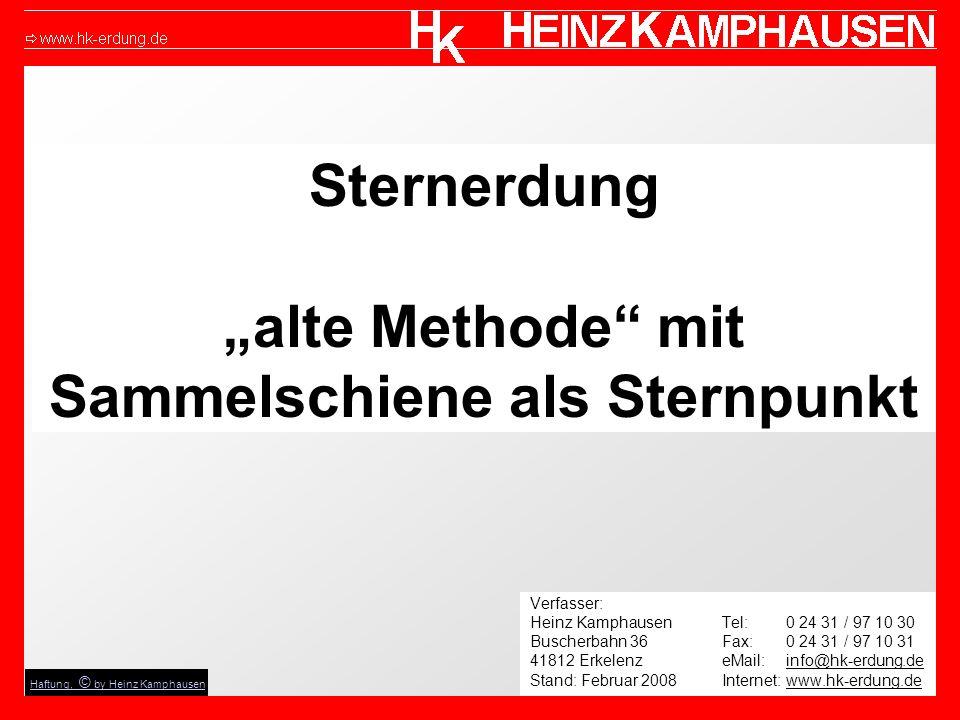 """Sternerdung """"alte Methode mit Sammelschiene als Sternpunkt"""