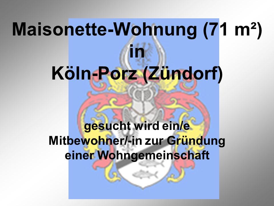 Maisonette-Wohnung (71 m²) in Köln-Porz (Zündorf)