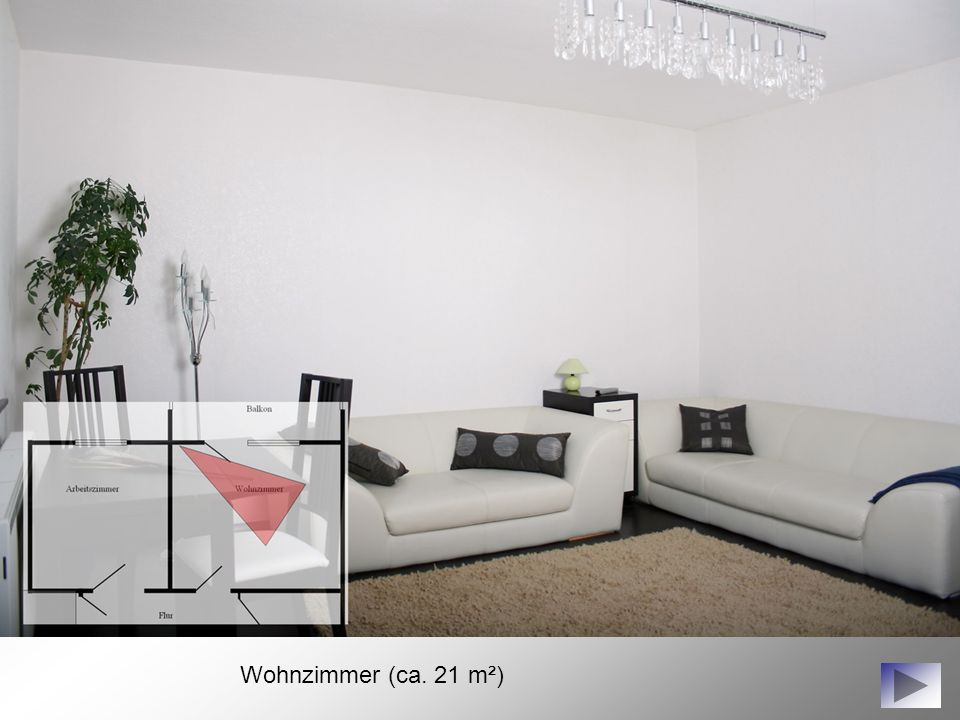 Wohnzimmer (ca. 21 m²)