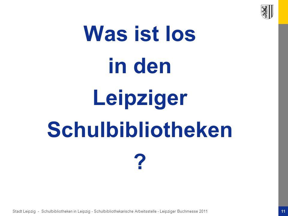 Was ist los in den Leipziger Schulbibliotheken