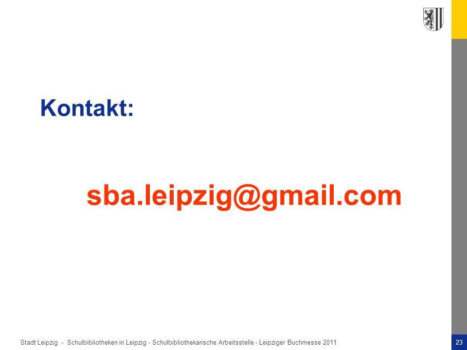 Kontakt: sba.leipzig@gmail.com