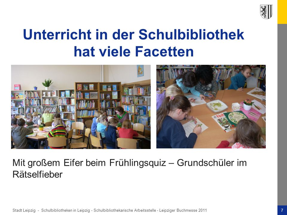 Unterricht in der Schulbibliothek hat viele Facetten