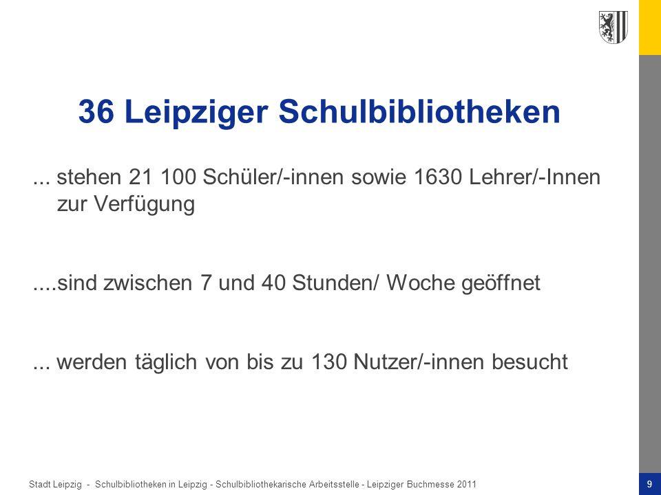 36 Leipziger Schulbibliotheken
