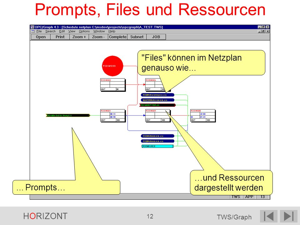 Prompts, Files und Ressourcen