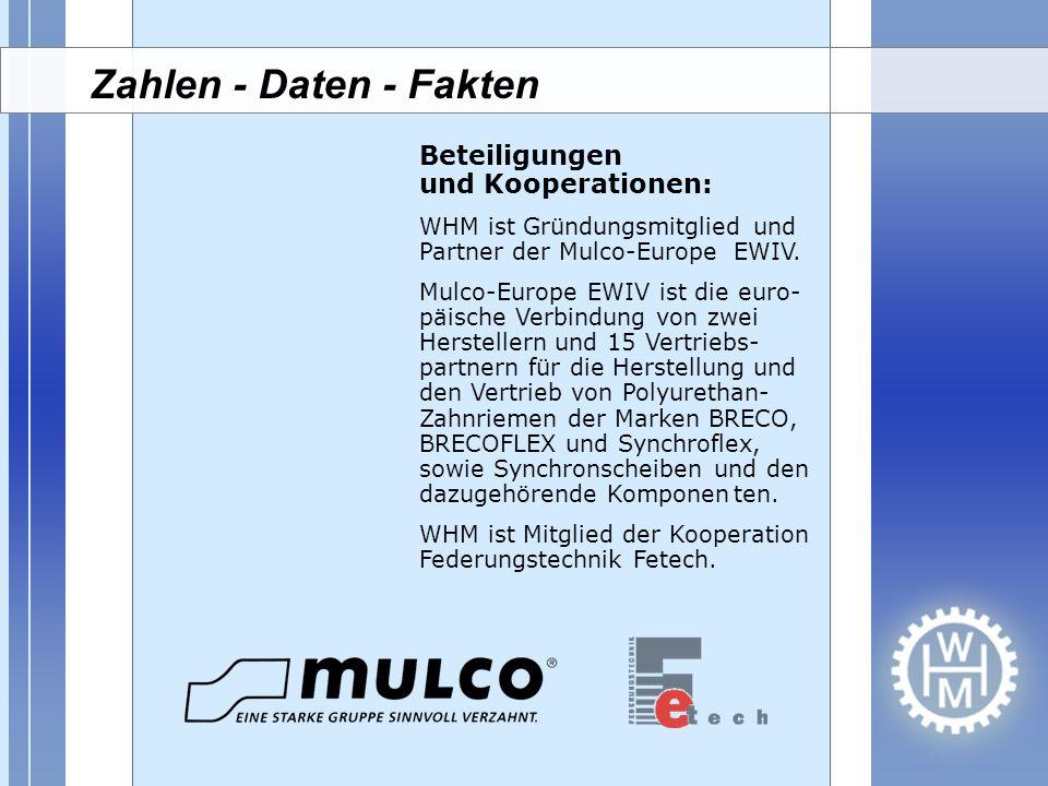 Zahlen - Daten - Fakten Beteiligungen und Kooperationen: