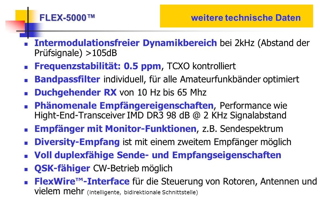 FLEX-5000™ weitere technische Daten