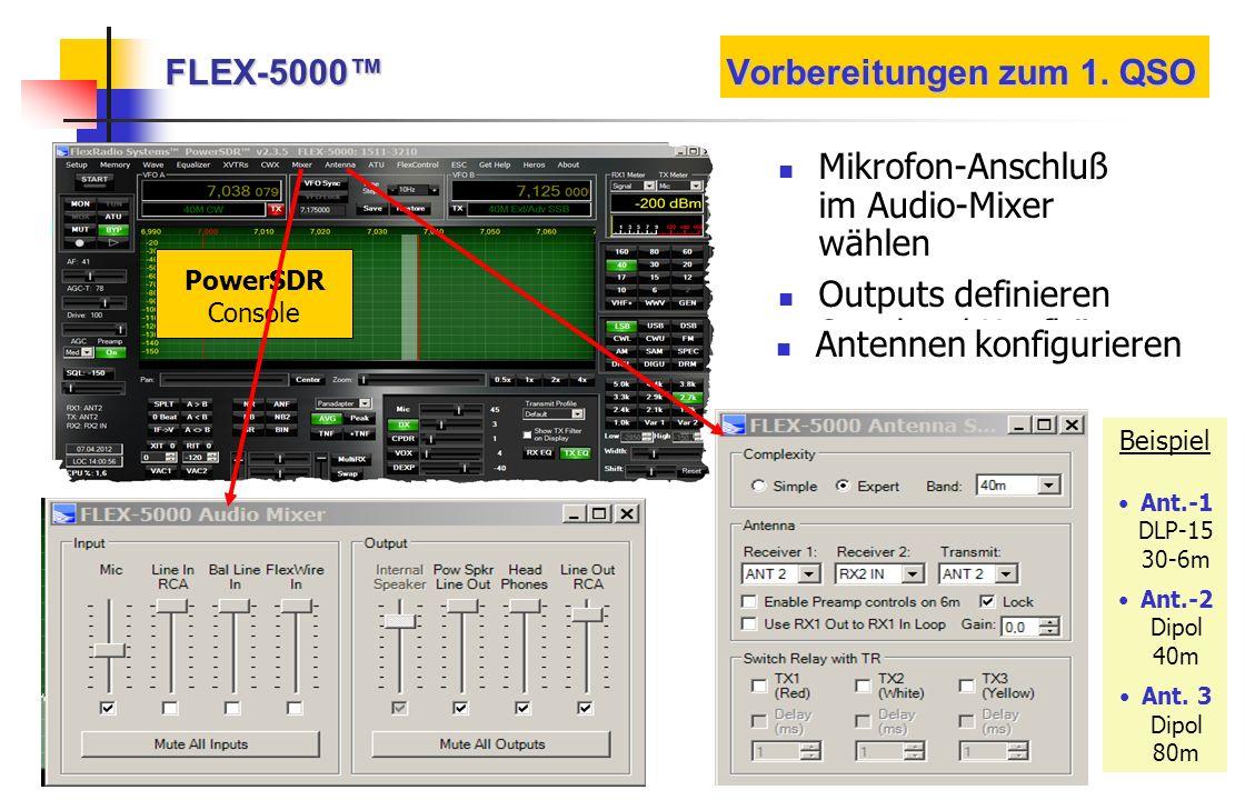 FLEX-5000™ Vorbereitungen zum 1. QSO