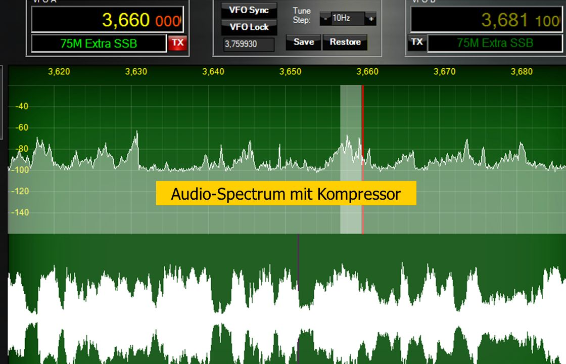 Audio-Spectrum mit Kompressor