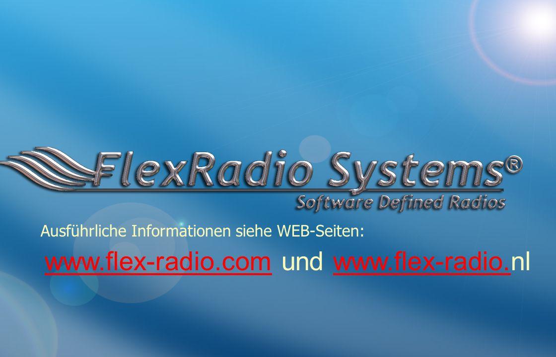 www.flex-radio.com und www.flex-radio.nl
