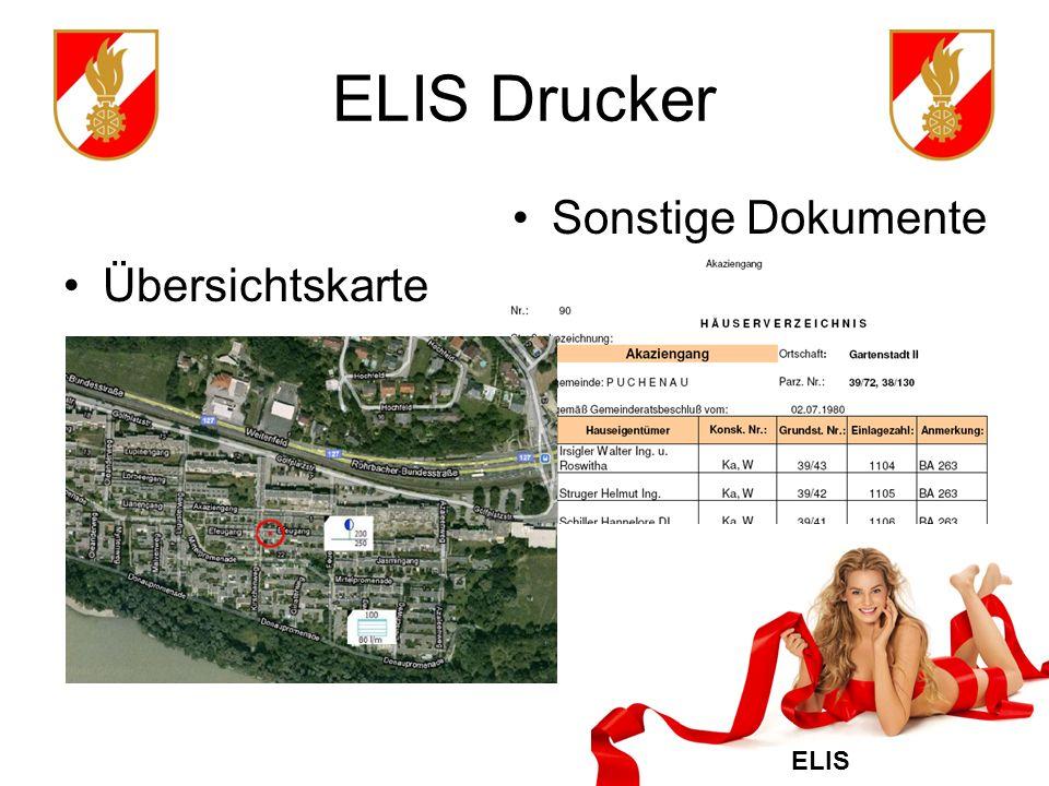 ELIS Drucker Sonstige Dokumente Übersichtskarte