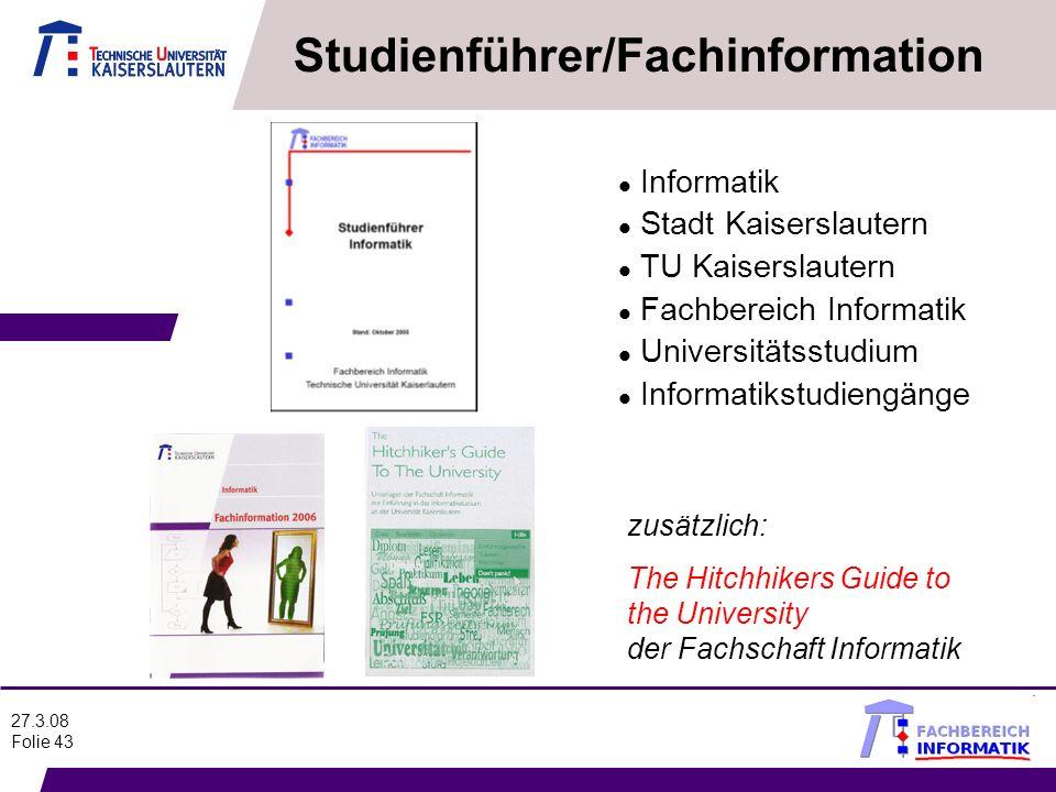 Studienführer/Fachinformation