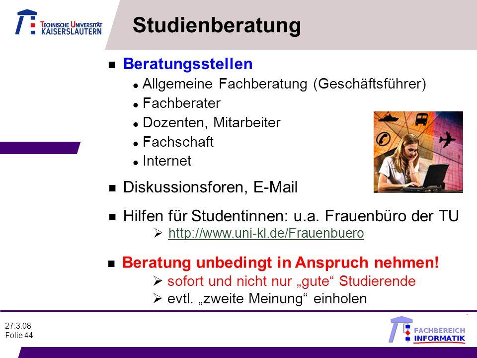 Studienberatung Beratungsstellen Diskussionsforen, E-Mail