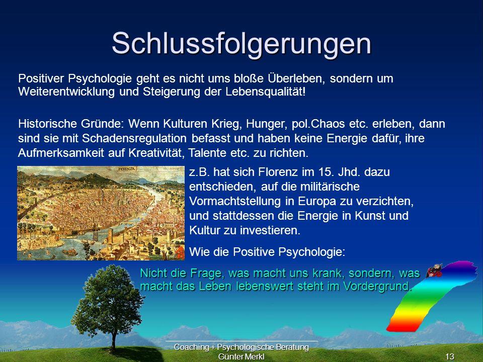 Coaching + Psychologische Beratung Günter Merkl