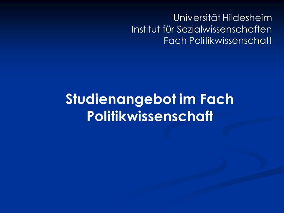 Studienangebot im Fach Politikwissenschaft
