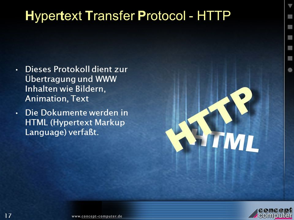 Hypertext Transfer Protocol - HTTP