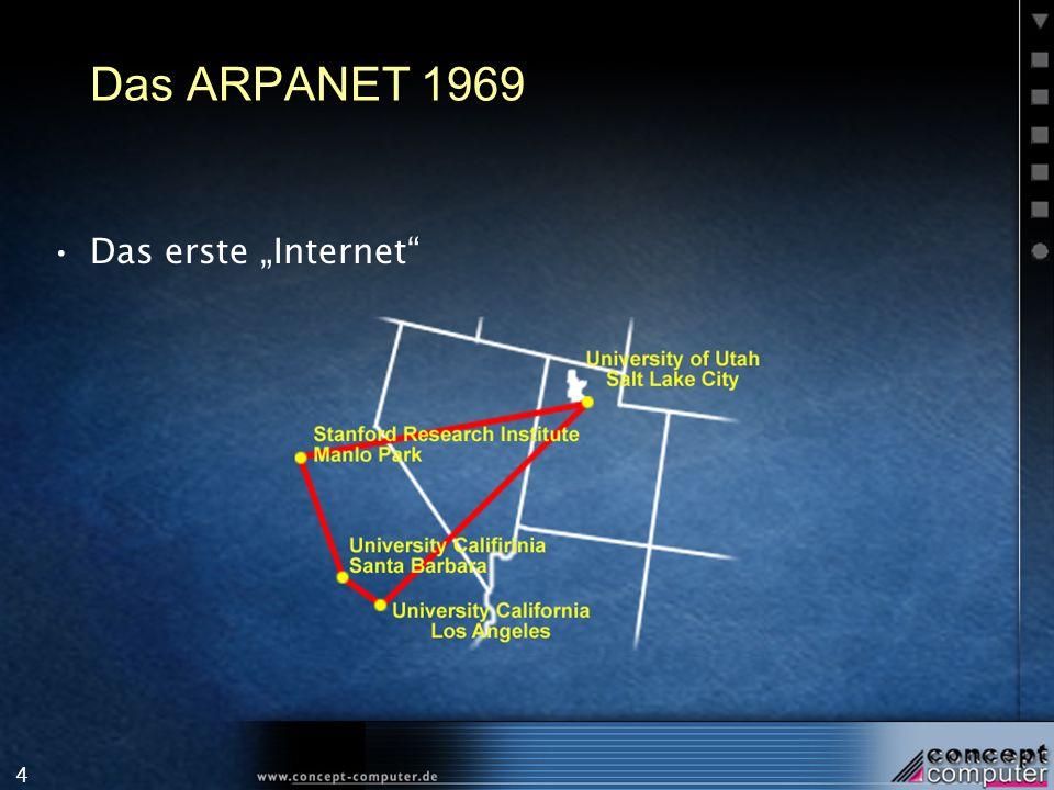 """Das ARPANET 1969 Das erste """"Internet"""