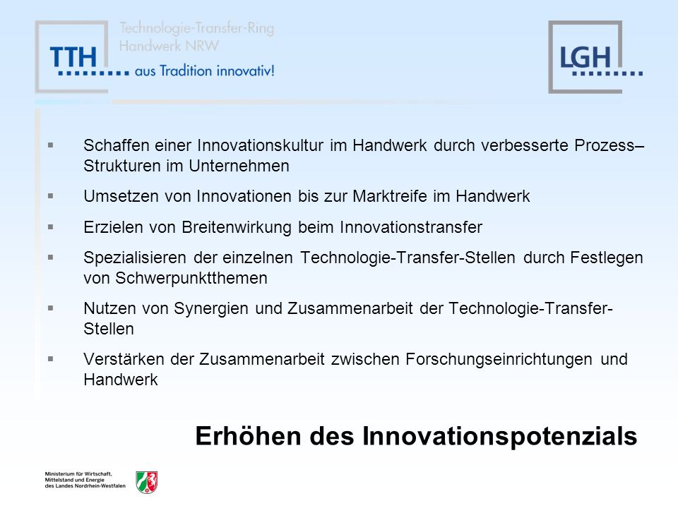 Erhöhen des Innovationspotenzials