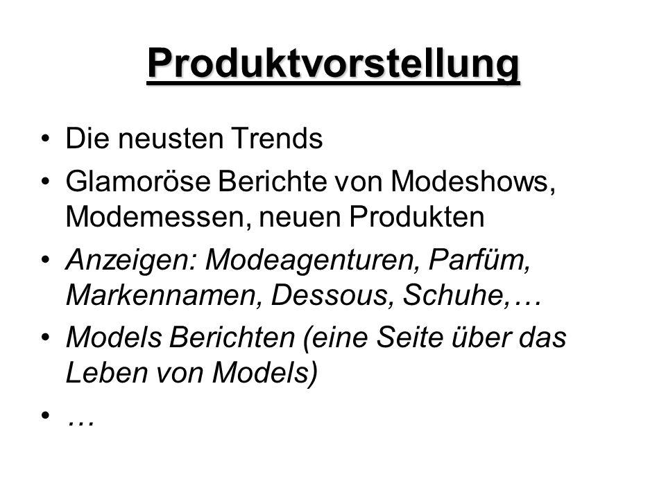 Produktvorstellung Die neusten Trends