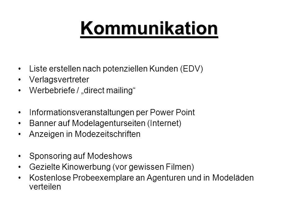 Kommunikation Liste erstellen nach potenziellen Kunden (EDV)
