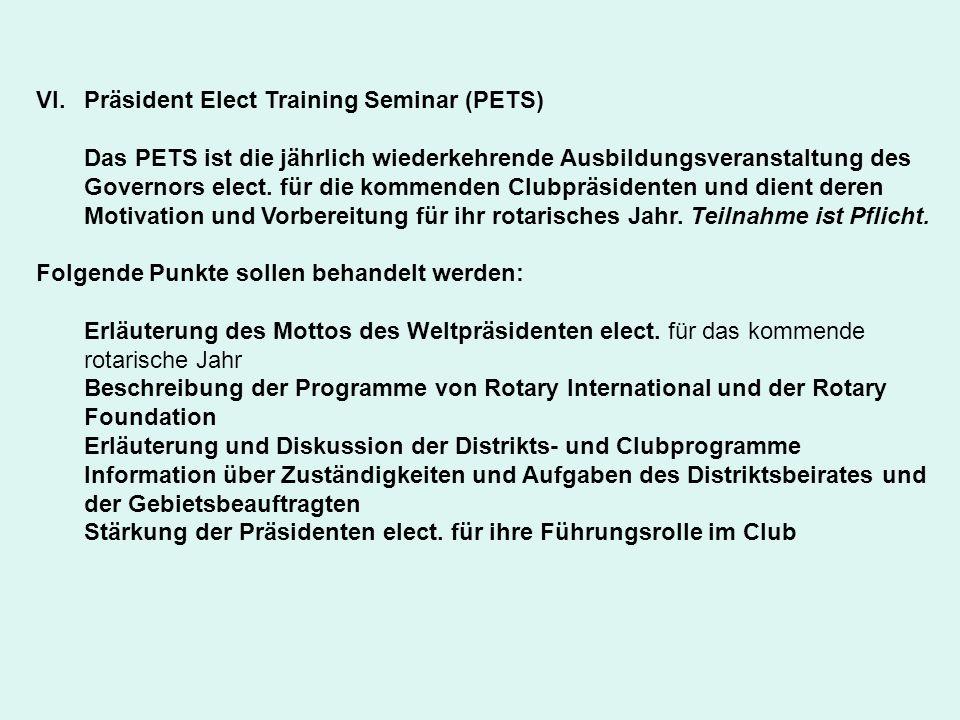 Präsident Elect Training Seminar (PETS)