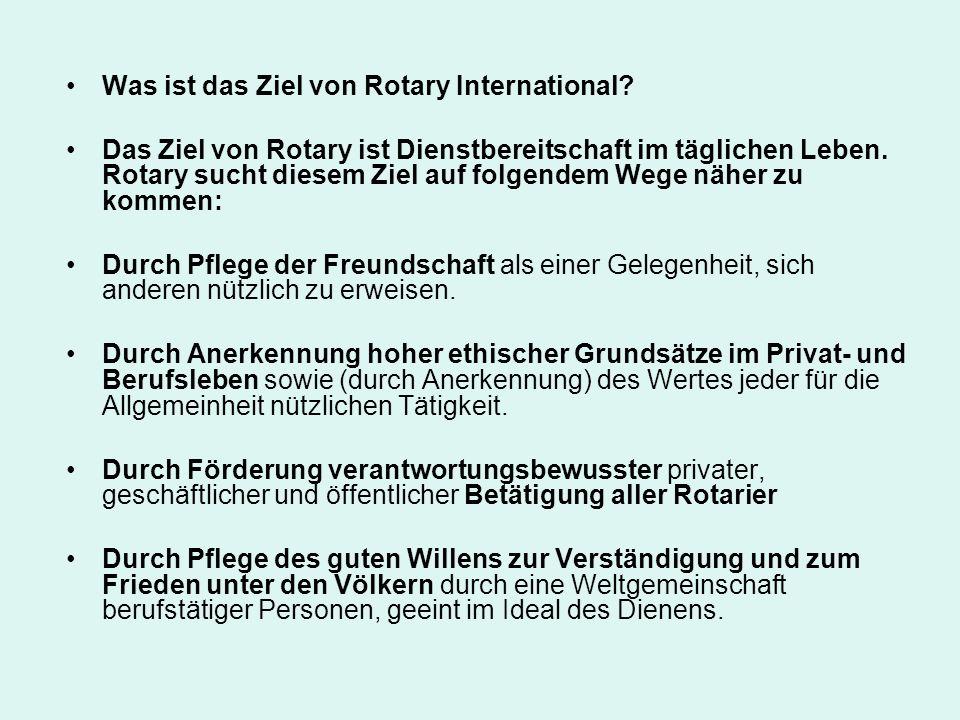 Was ist das Ziel von Rotary International