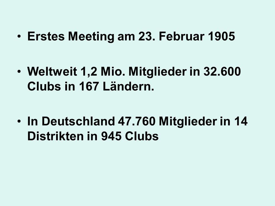 Erstes Meeting am 23. Februar 1905