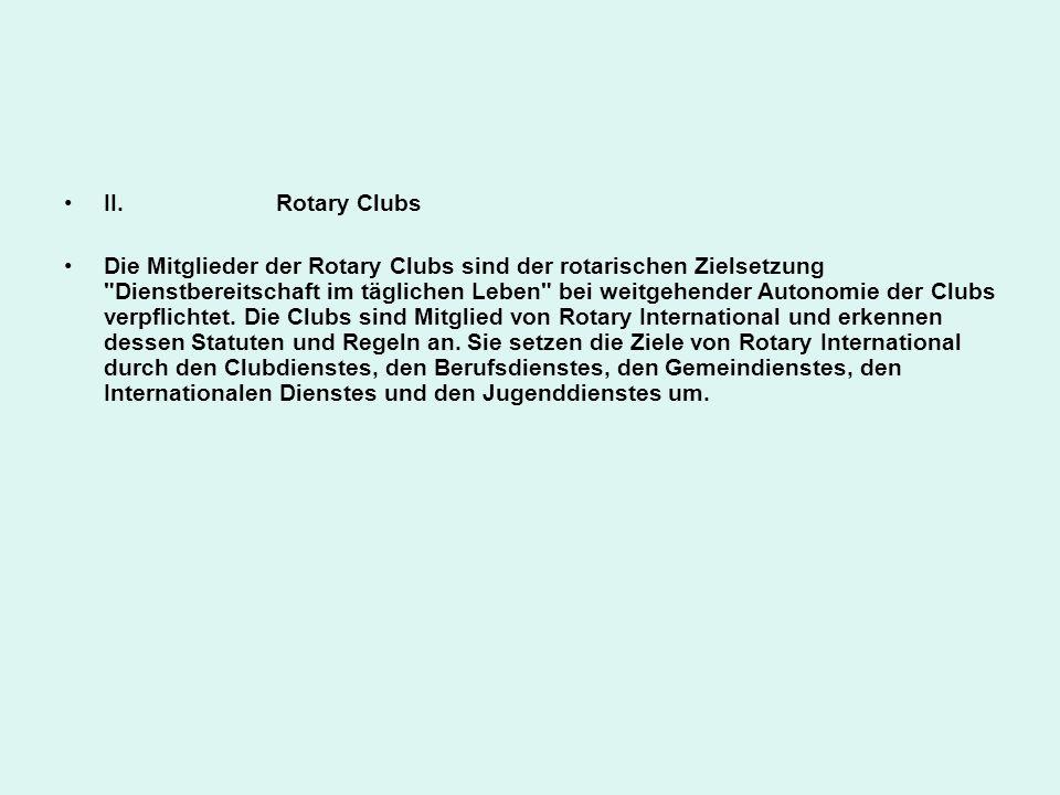 II. Rotary Clubs