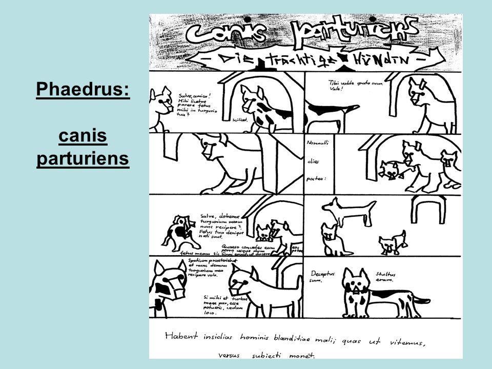 Phaedrus: canis parturiens