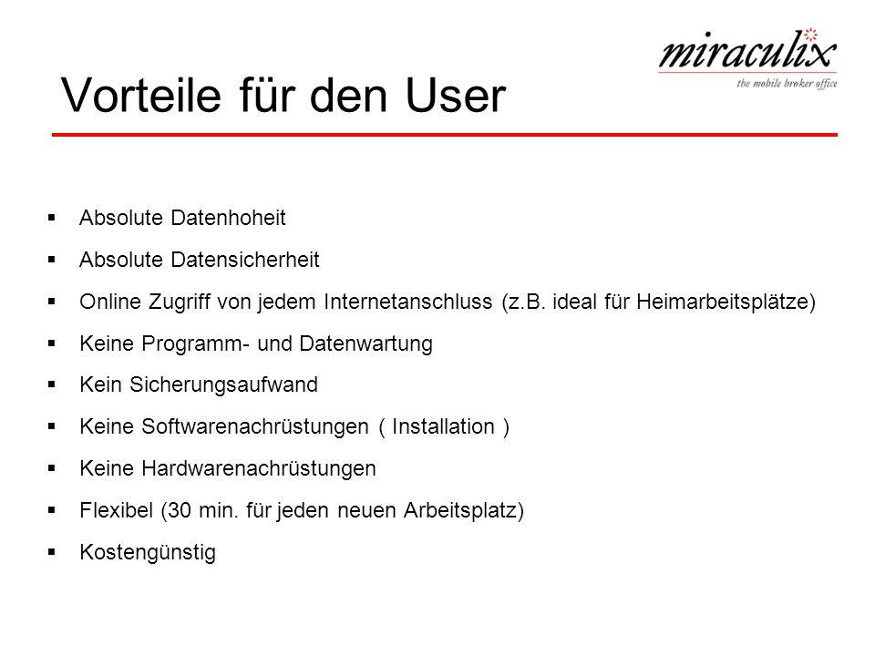 Vorteile für den User Absolute Datenhoheit Absolute Datensicherheit