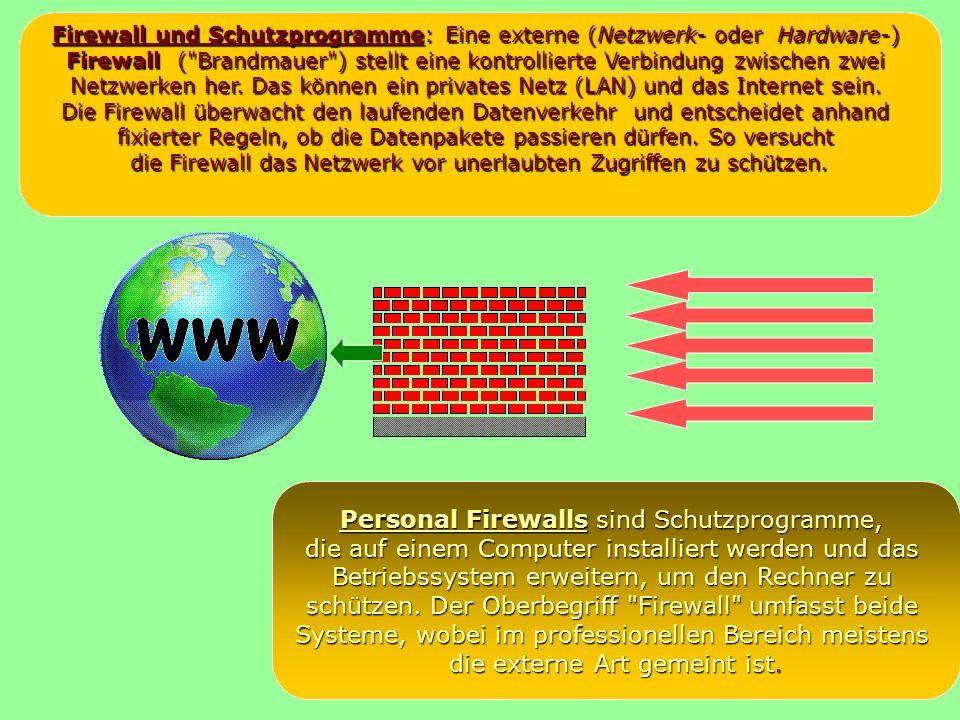 Personal Firewalls sind Schutzprogramme,