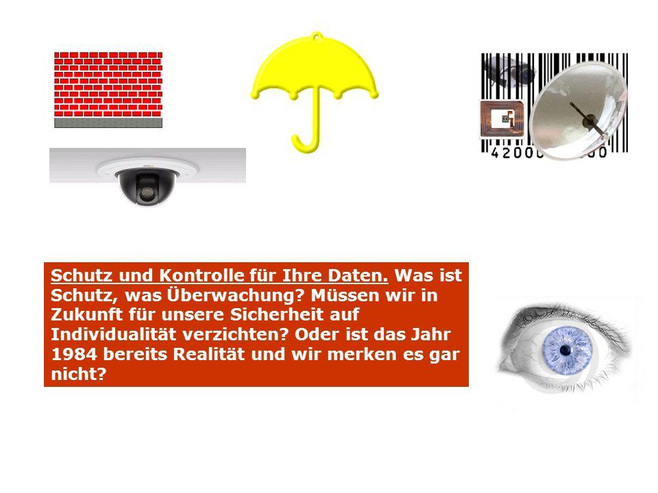 Schutz und Kontrolle für Ihre Daten. Was ist Schutz, was Überwachung