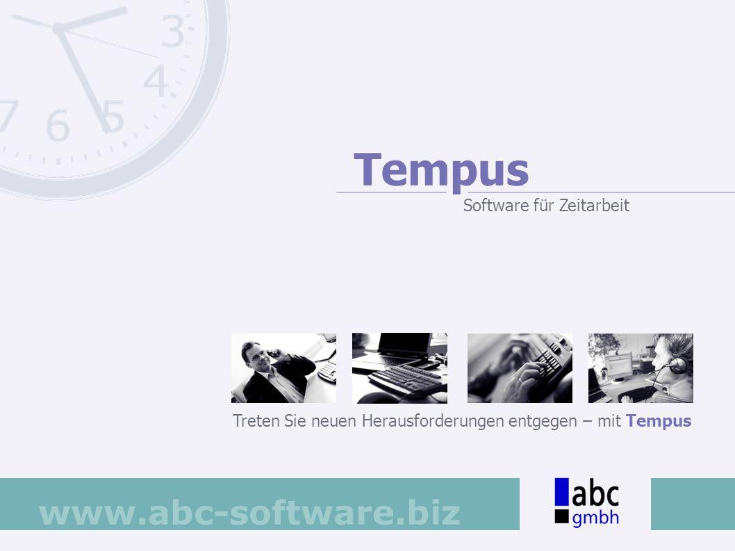 Tempus Software für Zeitarbeit