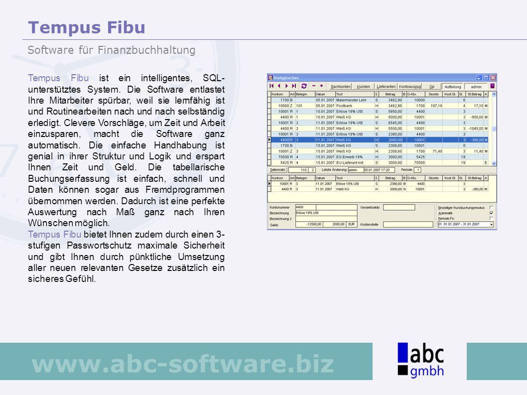 Tempus Fibu Software für Finanzbuchhaltung