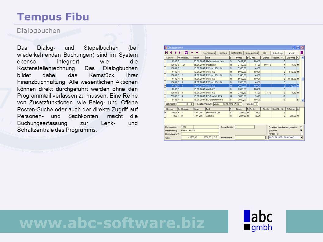 Tempus Fibu Dialogbuchen