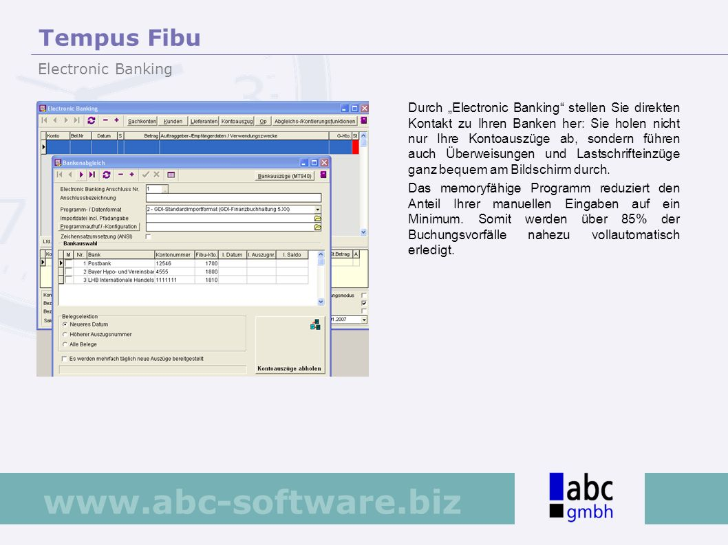 Tempus Fibu Electronic Banking