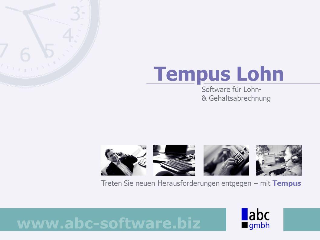 Tempus Lohn Software für Lohn- & Gehaltsabrechnung