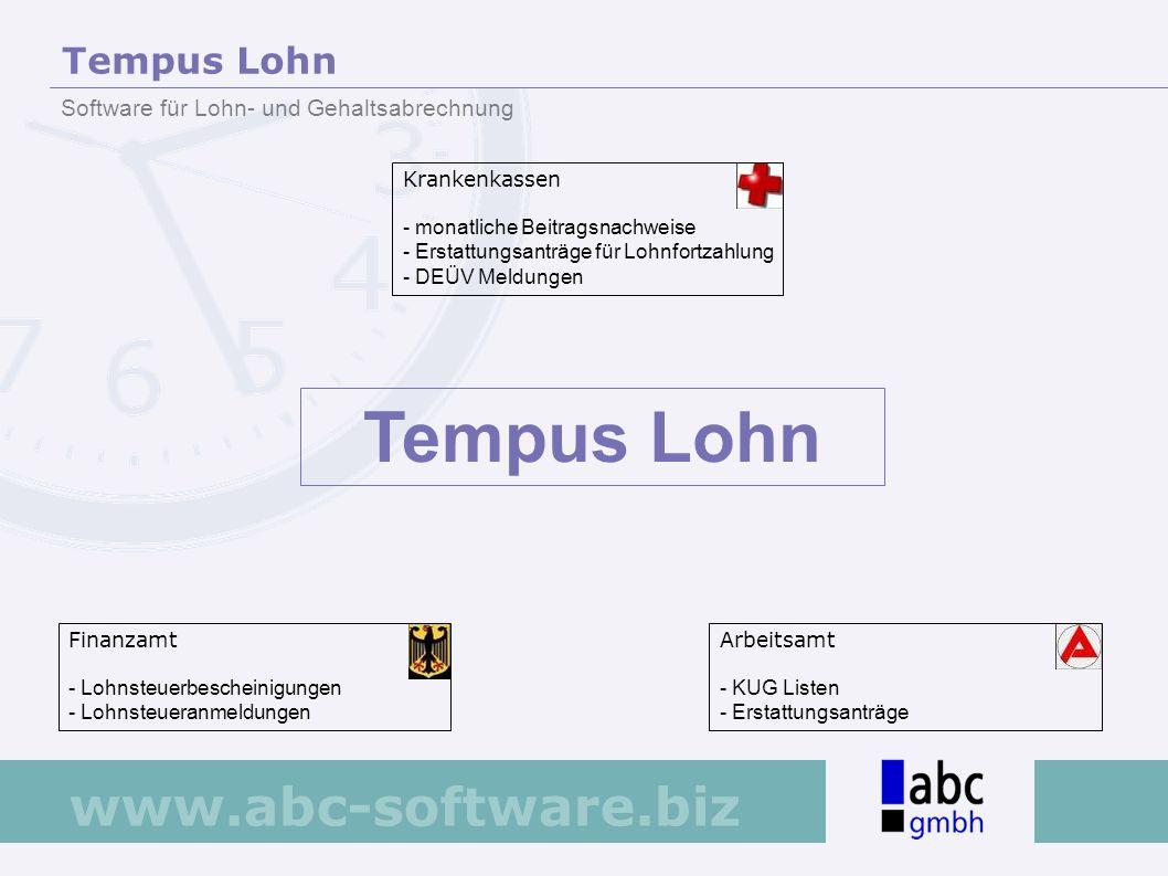 Tempus Lohn Tempus Lohn Software für Lohn- und Gehaltsabrechnung