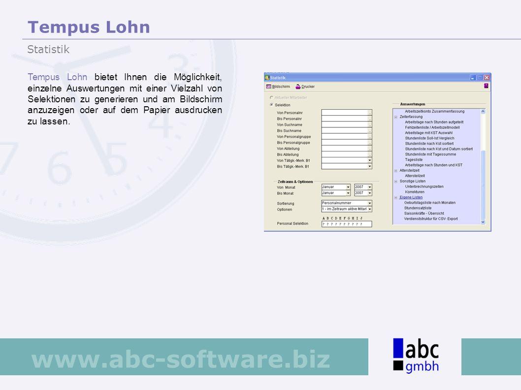 Tempus Lohn Statistik.