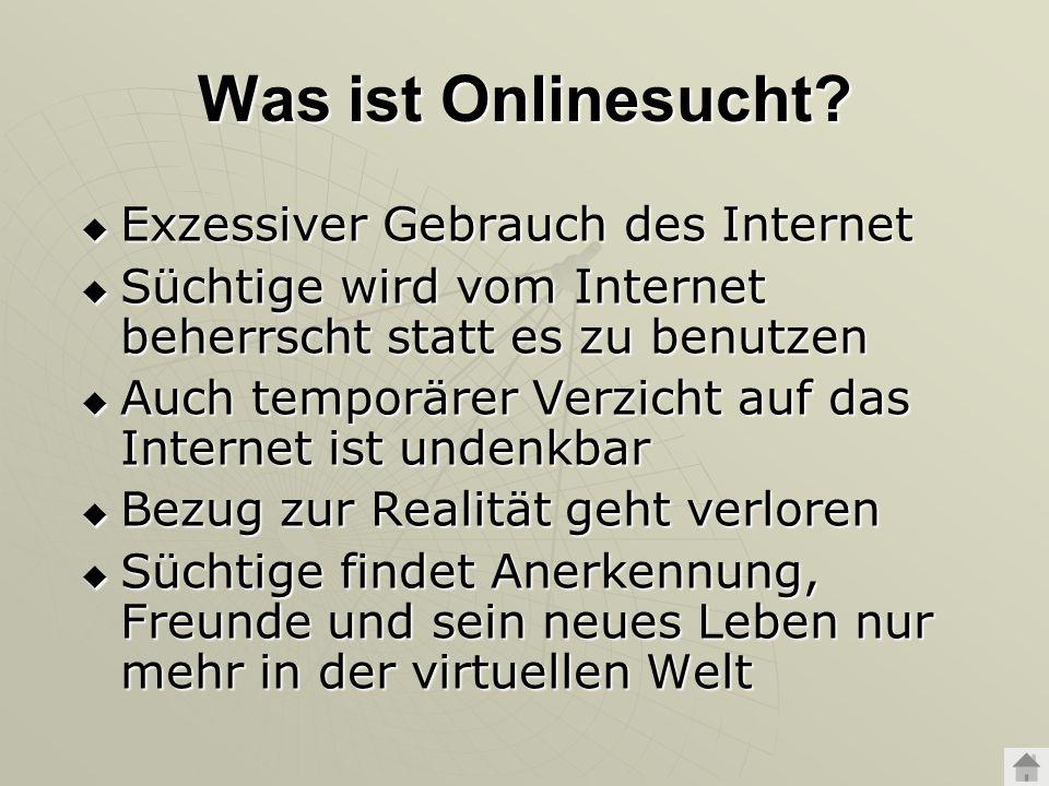 Was ist Onlinesucht Exzessiver Gebrauch des Internet