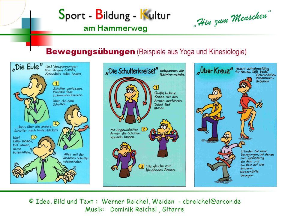 Bewegungsübungen (Beispiele aus Yoga und Kinesiologie)